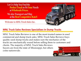 MNL Truck Sales Reviews