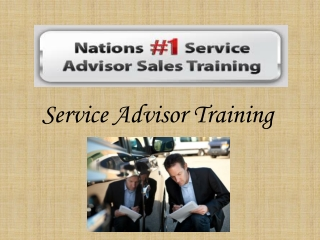 Service Advisor Training