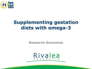 Supplementing gestation diets with omega-3