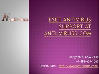 ESET AntiVirus Support at Anti-Viruss.com