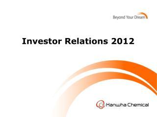 Investor Relations 2012
