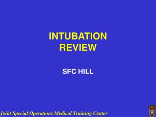 INTUBATION REVIEW