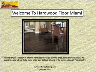 hardwood floor miami