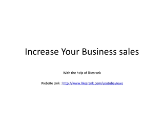 Increase Your Business sales