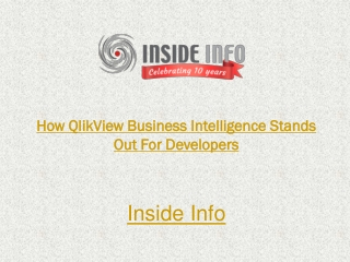 How QlikView Business Intelligence Stands Out For Developers