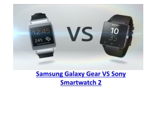 Samsung Galaxy Gear vs Sony Smartwatch 2