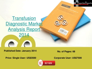 2014 Transfusion Diagnostic Research