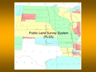 Public Land Survey System PLSS