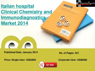 Italian Hospital Clinical Chemistry and Immunodiagnostics Ma