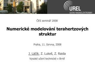 Numerick  modelov n  terahertzov ch struktur