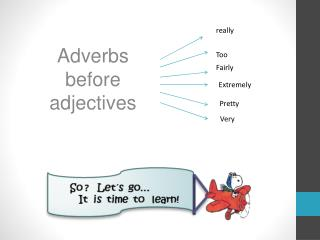 Adverbs before adjectives