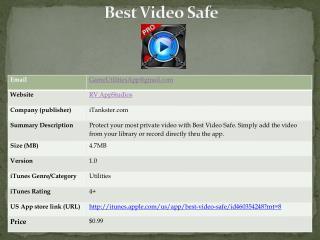 best video safe