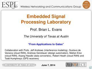 Embedded Signal Processing Laboratory