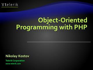 Object-Oriented Programming with PHP