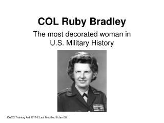 COL Ruby Bradley