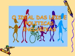 OBJETIVO    Mostrar o que seria o Ideal quando se trata de pol ticas de inclus o das pessoas com defici ncia.