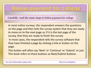 Best solution for online payment for college and other insti