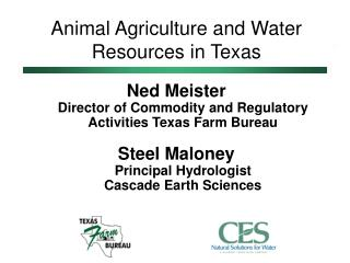 Animal Agriculture and Water Resources in Texas