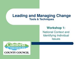 Leading and Managing Change Tools  Techniques