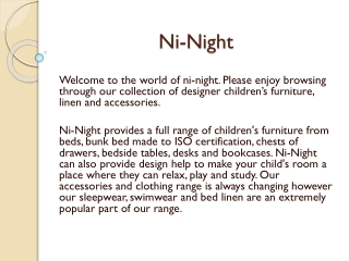 Kids Accessories - Bunk Beds, Study Table at ni-night