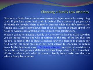 New York family attorney