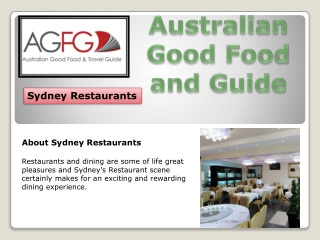 Choose Best Sydney Restaurants In Australia