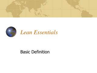 Lean Essentials