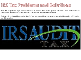 IRS Tax Problems and Solutions