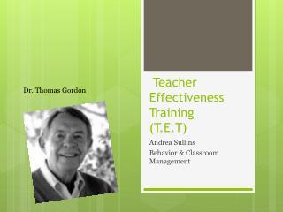Teacher Effectiveness Training T.E.T