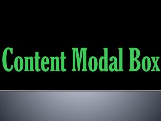 Content Model Box