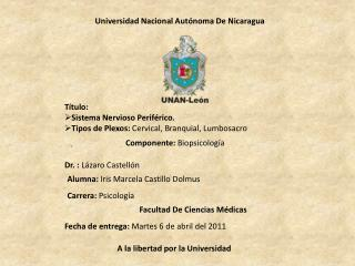 Universidad Nacional Aut noma De Nicaragua