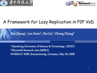 A Framework for Lazy Replication in P2P VoD
