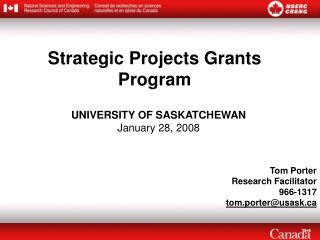 Strategic Projects Grants Program