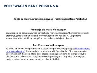konta bankowe vwbank