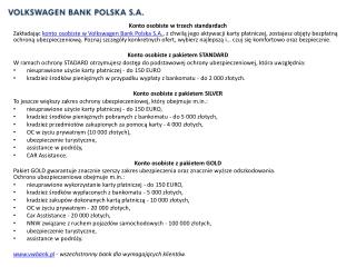Konto osobiste w vwbank.pl