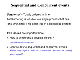Sequential and Concurrent events