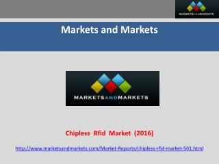 Chip less RFID Market worth $3,925 Million by 2016