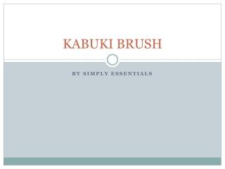 Kabuki Brush for Simply Essentials