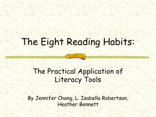 The Eight Reading Habits: