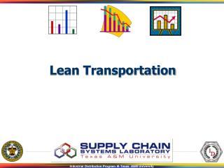 Lean Transportation - Topic 4