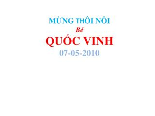 MUNG TH I N I  Be  QU  C VINH 07-05-2010