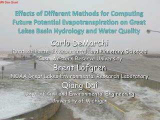 Effects of Different Methods for Computing Future Potential Evapotranspiration on Great Lakes Basin Hydrology and Water