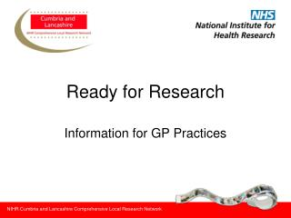 NIHR Cumbria and Lancashire Comprehensive Local Research Network