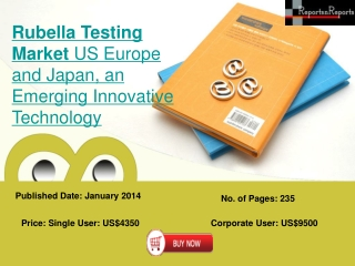 Rubella Testing Market to Grow in US, Europe and Japan Resea