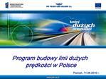Program budowy linii duzych predkosci w Polsce