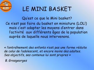 LE MINI BASKET