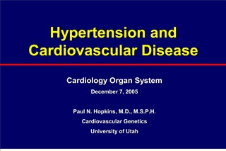 hypertension and cardiovascular disease