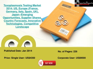 Potential Toxoplasmosis Testing Market Barriers and Risks