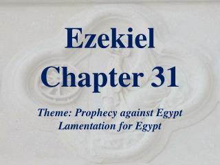Ezekiel  Chapter 31