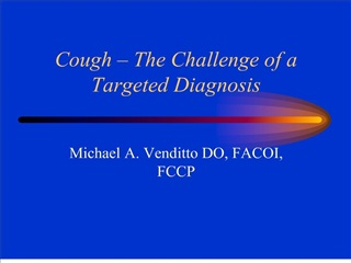 cough   the challenge of a targeted diagnosis